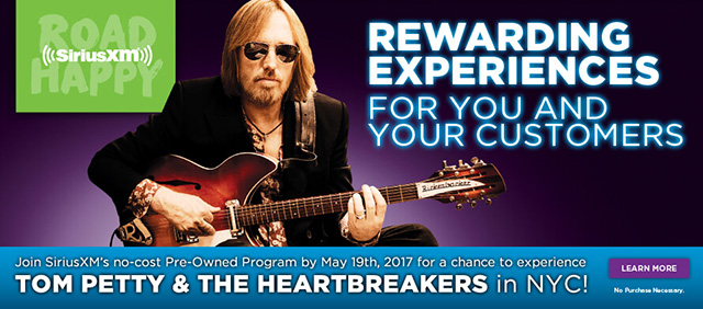 Join SiriusXM's no-cost Pre-Owned Program by May 19th, 2017 for a chance to experience Tom Petty & The Heartbreakers in NYC! Learn More ›