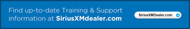 Find up-to-date Training & Support information at SiriusXMdelaer.com